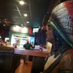 Photo of cigar store Indian at Melton's App & Tap.