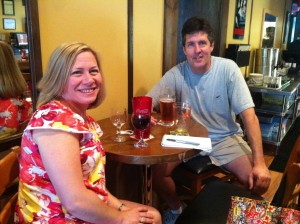 Photo of Owners Staci and Aaron Melton at Melton's App & Tap.