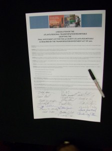 The signed document.
