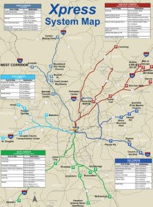 Xpress route map