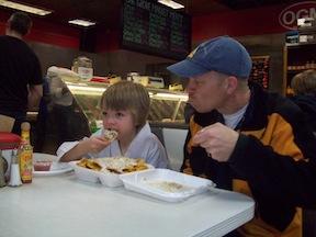 Photo of Ethan and Derek Butler at Oak Grove Market