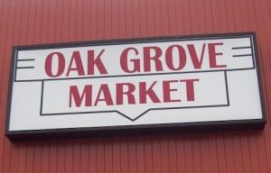 Oak Grove Market sign