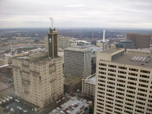 Invest Atlanta's new offices overlook AT&T to the south.