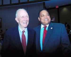 Former Atlanta Alderman Rodney Mims Cook, Sr. and Atlanta Councilperson Michael Julian Bond. Credit: Michael Julian Bond