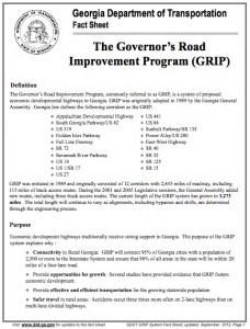 Governor's Road Improvement Program