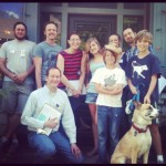 Photo of squirrel census takers in Inman Park.