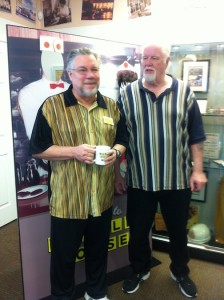 """Larry Larson and Eddie Levi Lee, playwrights of """"Waffle Palace"""""""