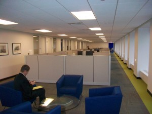 Office cubicles at Invest Atlanta.