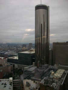 Invest Atlanta's new offices overlook the Westin, to the west.