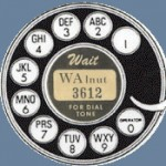 Photo of rotary dial phone in Atlanta with a six digit phone number located downtown. (Credit: Atlanta Telephone History website).