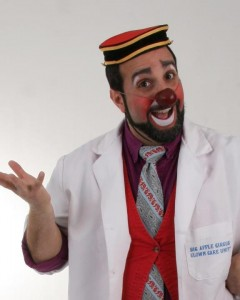 """Photo of Vince """"Dr. Giacomo Pucci"""" Tortorici of the Big Apple Clown Care Unit in Atlanta"""