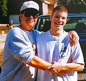 Photo of Clark and Jason Flatt, his teenage son who died.
