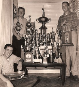 My father Jim Hiskey (left, standing) and his brothers were champion golfers who won college scholarships.