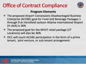 These terms are among those Atlanta set out during the bid for airport concessionaires. Credit: City of Atlanta
