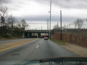 This gateway to West End from downtown Atlanta could be easily reconfigured, according to a Georgia Tech study of Northside Drive. Credit: David Pendered