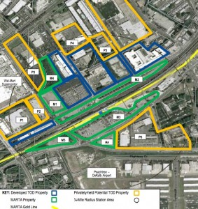 CHAMBLEE TOD - The area already has blossomed as a TOD area and about 20 acres of land remain available for redevelopment. Credit: Bleakly Advisory Group