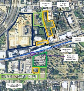 """KING MEMORIAL TOD - MARTA owns four acres and 26 acres owned by others provide """"one of the best TOD opportunities in the region,"""" according to the Bleakly report. Credit: Bleakly Advisory Group"""