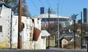 Atlanta's low income residents pay 48 percent of their income on rent for housing, according to Brookings Institution. File/Credit: Kristian Weatherspoon via marketplace.org