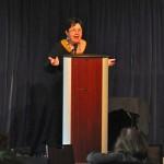Photo of Judi Knight at WordCamp Atlanta 2013.