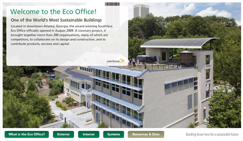 You can a virtual online tour of Southface's Eco Office on Pine Street in downtown Atlanta at this link: http://goo.gl/iely8. The award-winning LEED Platinum building burns less than $25 a day in energy.