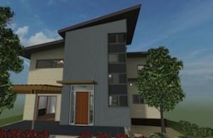 Rendering of net-zero home in Serenbe