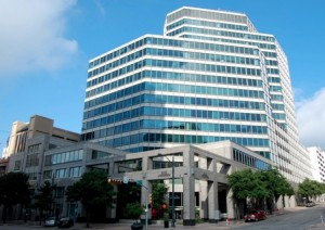 Cousins Properties, Inc. intends to purchase this office building in Austin, Tx. with proceeds of its $165.1 million stock sale on April 12. Credit: Thomas Properties Group, Inc.