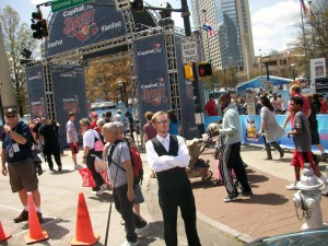 Atlanta's biggest attraction for the Final Four fans on Sunday afternoon was the festival in Centennial Olympic Park. Credit: David Pendered
