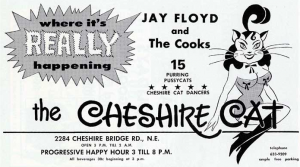 In 1968, the Cheshire Cat was the type of club that attracted crowds to Cheshire Bridge. Credit: atlantatimemachine.com