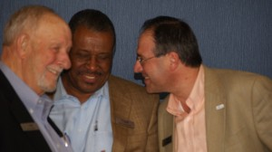 Jim Rhoden and David Hankerson of Cobb County talk to Johns Creek Mayor Mike Bodker (Photo: Atlanta Regional Commission)