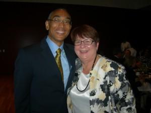 DeKalb County CEO Burrell Ellis with Gwinnett County Chair Charlotte Nash (Photo: Maria Saporta)