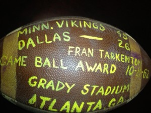 Game ball from Atlanta's 1962 NFL game