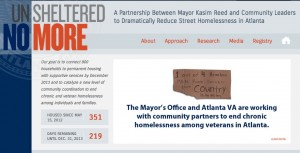 Atlanta's efforts to reduce homelessness are outlined on its website, unshelterednomore.com