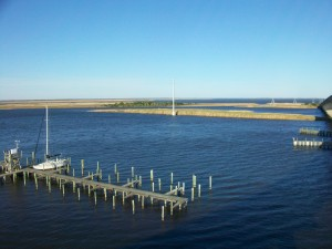 The Apalachicola River is 14 feet deep in front of the town. Once the river enters the bay, the water is no more than 2 feet deep for at least a mile offshore, according to NOAA charts. Credit: David Pendered