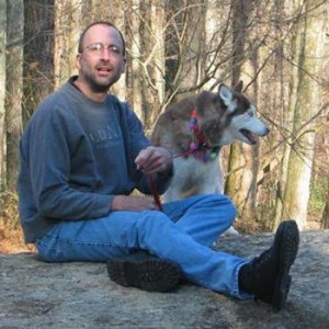 Photo of Robert Berry with his dog on April 27, 2012