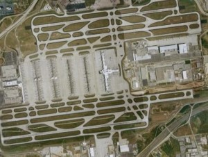 Atlanta's airport can be as challenging to navigate on the inside as it appears from the air. Credit: wikimedia.org