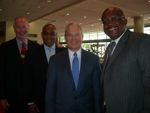 Construction team that will build new Falcons stadium: left to right: Bob Hunt, Michael Russell, Tommy Holder and Dave Moody (Photo: Maria Saporta)