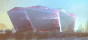 Revised Falcons stadium design
