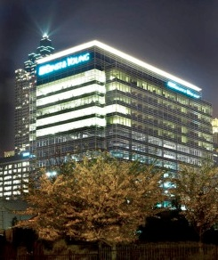 The energy assessment of 55 Allen Plaza shows the building, constructed in 2007, has 10 opportunities for upgrades, at a cost $247,000, which could be recovered in two years. Credit: atlantadowntown.com