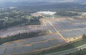 Apple is building this 100-acre solar farm outside its data center in Maiden, N.C. The farm is thought to be the largest of its kind in the country. Credit: appleinsider.com