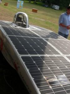 Solar powered race car (Photo: Maria Saporta)