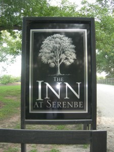 Sign for the Inn at Serenbe (Photo by Maria Saporta)