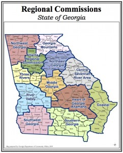 Voters in three districts approved the 1 percent transportation sales tax: Central Savannah River; River Valley; Heart of Georgia. Credit: Georgia Department of Community Affairs