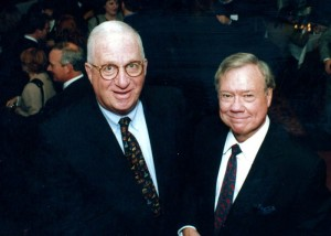 Bob Cohn and Norman Wolfe at the agency's 25th anniversary in 1995