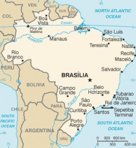 Coke's new bottler in Brazil serves a territory larger Portugal, Spain, Italy, Greece, France, Germany and the United Kingdom combined. Map credit: cia.gov