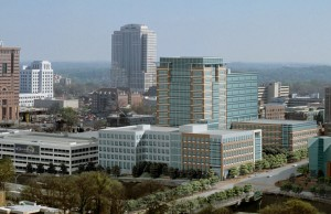 An affiliate of Georgia Tech intends to refinance a portion of the Centergy building, which anchors Technology Square in Midtown. Credit: centergy.org