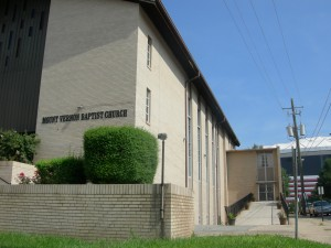 Mount Vernon Baptist Church with Georgia Dome in background (Photos by Maria Saporta)