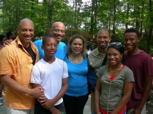The Morton brothers and their children