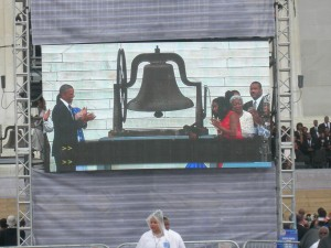 Ringing the bell for freedom
