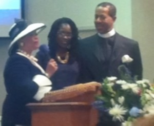 Deborah, Antoinette and Ulysses Tuff at the Aug. 25 service at The Way The Truth & The Life Christian Center in Decatur.