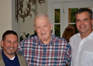 Mitch Leff, Bob Cohn, Mark Parkman at Aug. 17 reunion